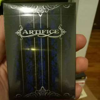 Blue Artifice V2 playing cards