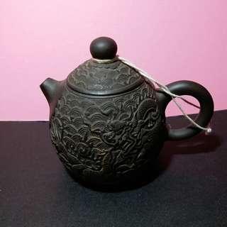 紫砂龍紋小茶壼