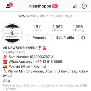 Do follow @nisashoppe instagram!