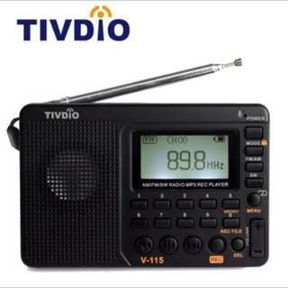 portable fm radio receiver mp3 player