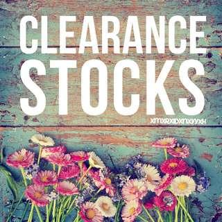 CLEARANCE STOCKS