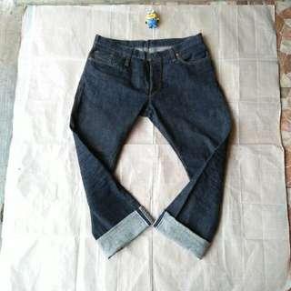Celana panjang jeans Selvedge Sageranger bukan levis chino