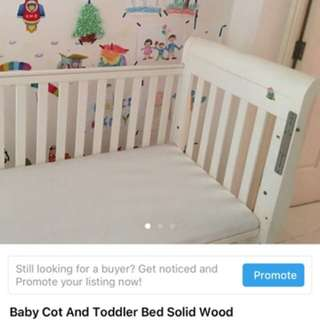 Good quality Solid wood baby cot
