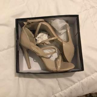 Pretty little thing strap heel