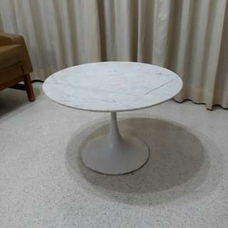 vintage mid century Diethelm Tulip marble coffee table or side table