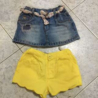 Bb Duo skirt n shorts