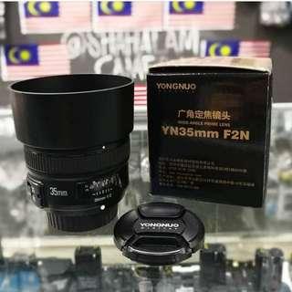New YN 35mm F/2N Lens For Nikon DSLR