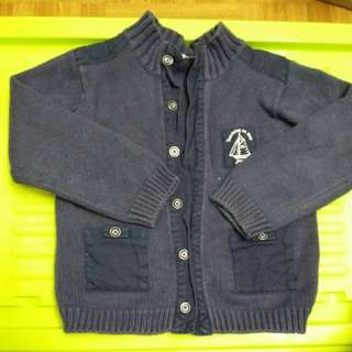 Jacadi sweater 藍色線衫