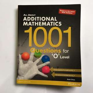 all about additional mathematics 1001 questions