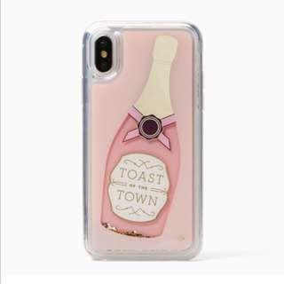 Kate Spade Champagne Glitter iPhone X Case