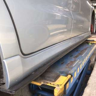 Stream side skirt with add ons