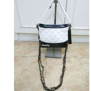 GABRIELLE-STYLE BAG , WITH LONG CROSSBODY SLING CHAIN (BRAND NEW - BOUGHT IN UK)