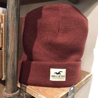 Hollister beanie Wine Red