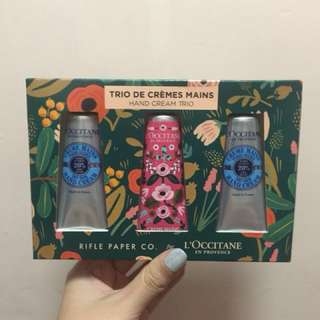 Rifle Paper Co x L'occitane Shea Holiday Hand Cream Set