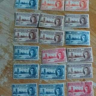 英屬早期全新郵票 a01