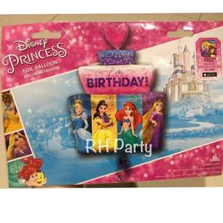 (11/1) Include helium happy birthday Disney princess foil balloon