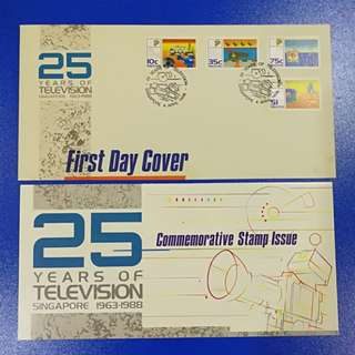 First Day Cover - 25 Years of Television Singapore 1963-1968