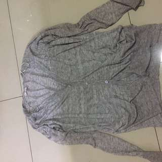 Zara cardigan knit jacket outer kardigan abu grey original