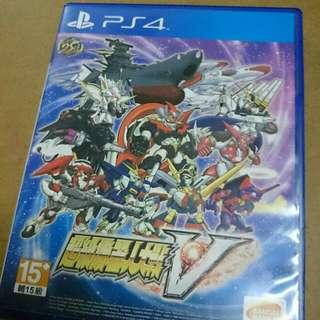 Ps4 Game - Super Robot Wars V ( 稀有中文字版 )