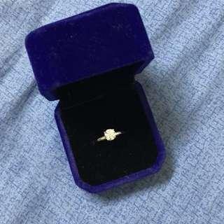 仿鑽石戒指