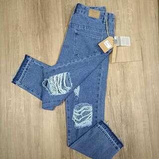 •new• HIGH WAISTED RIPPED Boyfriend Jeans (Kitschen)