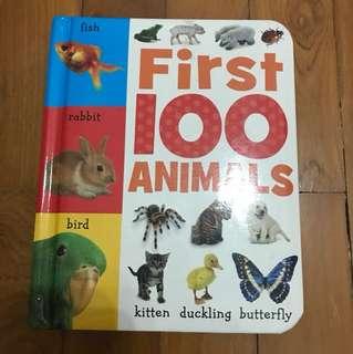 Children's Book First 100 Animals
