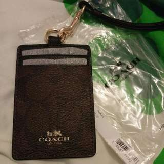 Coach ID badge bag