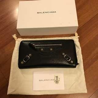 Balenciaga Long Wallet in Black