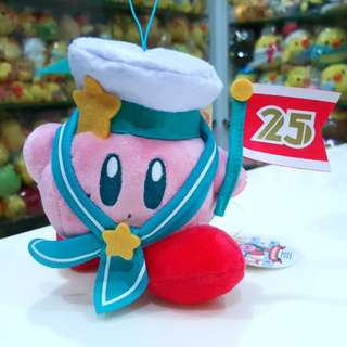 BN Japan Nintendo Kirby 25th Anniversary Plush Accessory Charm Doll with Strap