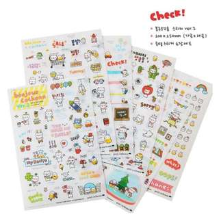 DIY PVC Transparent Korean Stickers