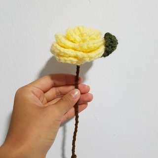 Crochet Flower - Yellow