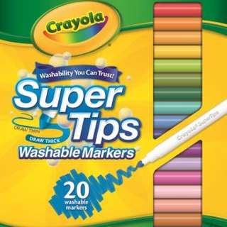 Crayola 20 SuperTip Washable Markers
