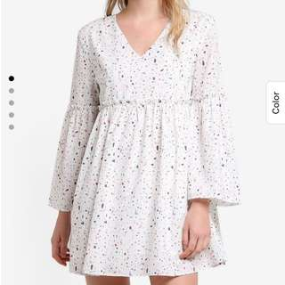 Flare Sleeve Babydoll Dress