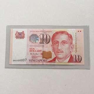 Portrait $10 UNC HTT NA 000007 banknote