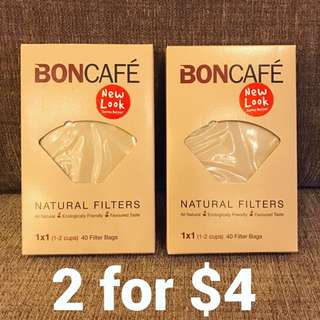 ✨[BNIB] FREE NM✨ Boncafe Natural Coffee Filters 1x1 - 2 Boxes ✨