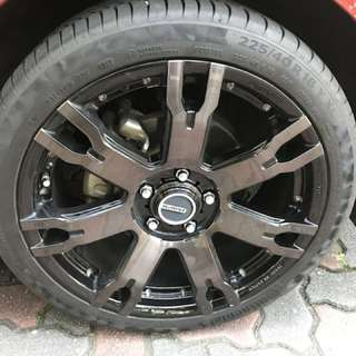 "Rays 18"" with Continental Contact 6 tyre"