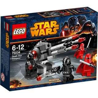全新Lego 75034 Starwars death star troopers