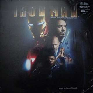Mint sealed limited red Iron man soundtrack record vinyl numbered