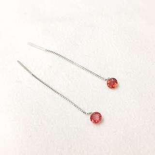 18K WG Ruby Earrings