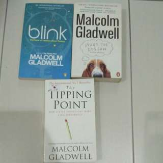 Malcolm Gladwell bundle of 3