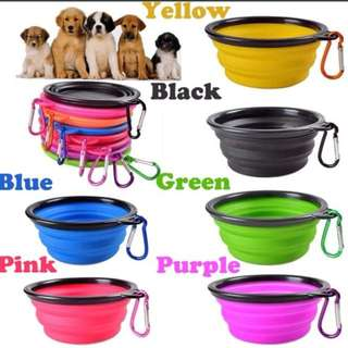 Slicon collapsible dog water /food bowl