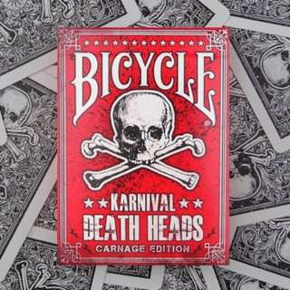 Bicycle Karnival Death Head Playing Cards