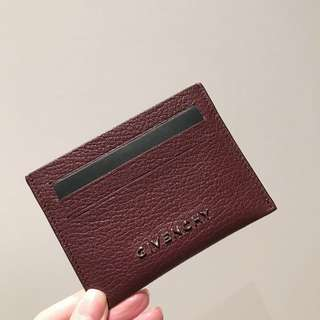 (HOLD) GIVENCHY leather cardholder burgundy (Original Price $2090)
