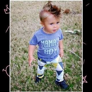 Newborn Baby Boy Short Sleeves T-shirt+Pants 2pcs Set.
