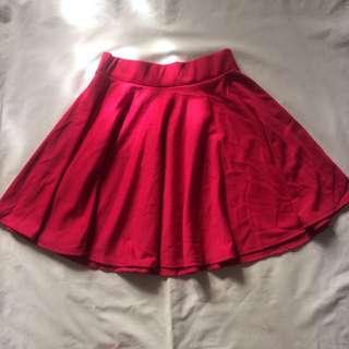 Red skater skirt-used once!