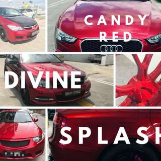 Car spray painting - candy red series