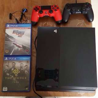 PS4 (jet black 500 gb)