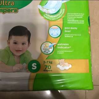 Huggies Ultra Diapers(Gold version) size S