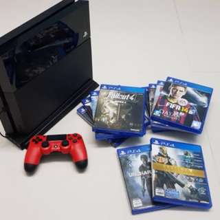Ps4 with controller and 8 games bundle