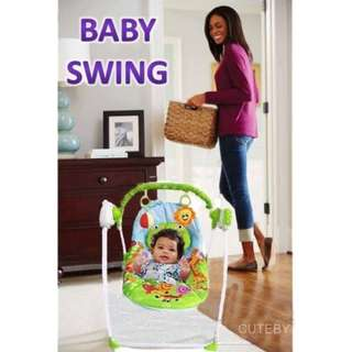 PORTABLE BABY SWING WITH MOSQUITO NET, REMOTE CONTROL AND CHARGER